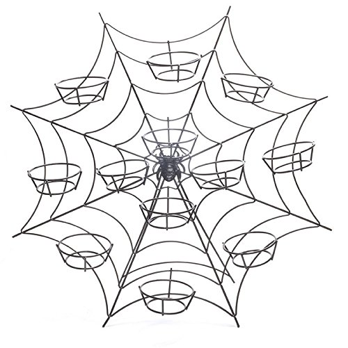 Spiders Web Halloween Cupcake Stand Cake Baking Display Party]()
