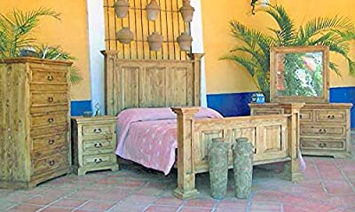 Rustic Pine bedroom set Full, Queen, King BY LUXURY RUSTIC (Bed, Dresser, Chest, Mirror, 2 Nightstands)