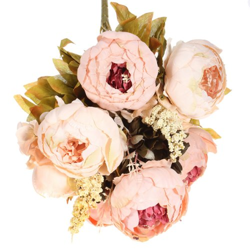 KINGSO Artificial Flowers Bouquet Decoration