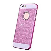 Bling Glitter Hard Case for Samsung Galaxy S6 Edge Plus G9280 Smartphone - fengus Luxury Diamond Crystal Rhinestone Sparkle Design Back Cover Phone Case Skin Protective Shell Bumper - Pink
