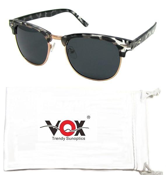Vox había polarizado ver Retro Vintage Celebrity Eyewear - ideal gafas de sol Horn-Rimmed Classic 80 para caras más pequeñas!