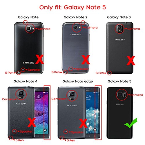 outlet store 2e6d5 a2873 ULAK Note 5 Case, Galaxy Note 5 Case, 3 in 1 Hard PC Soft Silicone Hybrid  Dust Scratch Resistance Protective Cover for Samsung Galaxy Note 5 (Rose ...