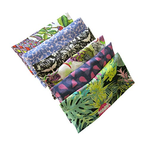 Peacegoods Aromatherapy Eye Pillow - Bundle of (6) - 4.5 x 9 - Organic Lavender Chamomile Flax Cotton - Removable Cover Washable - green black pink purple bird butterfly flowers - Pillow Butterfly Massage