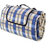 Monstar XXX-Large 69x79 Inch Outdoor Blanket - Water Proof Backing Picnic Rug - Easy To Fold And Portable Beach Mat- Family Perfect For Beach, Travel, Picnic Camping