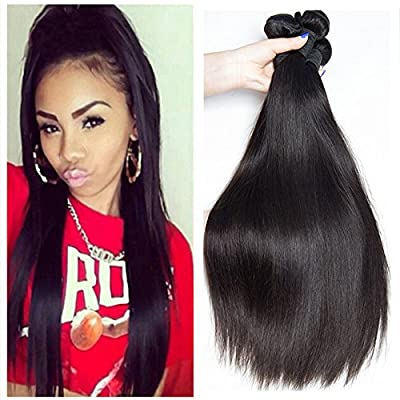Brazilian straight 3/4bundles virgin hair