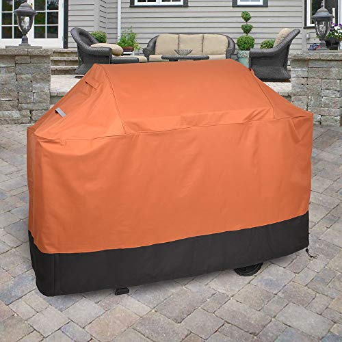 Griller's Guard Waterproof BBQ Grill Cover for Heavy Duty Outdoor Use - Cover your Barbecue Grill Year Round - Winter Summer - Complete Protection 42'' x 58'' x 24'' by BDK