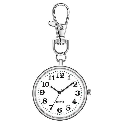 ACZZ Reloj de bolsillo Nurse Digital analógico llavero ...