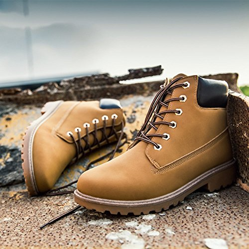 SITAILE Men Women Comfortable Ankle Boots Lace up Waterproof Combat Work Safety Shoes by SITAILE (Image #4)
