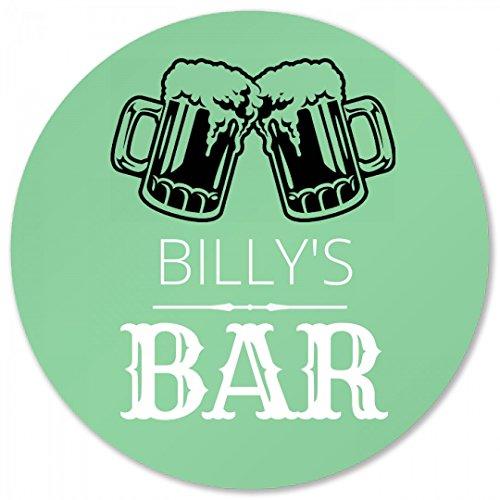 (Billy's Bar Coaster Foamy Beer: Round Plastic Coaster)
