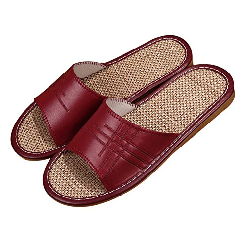 Wine Femme Chaussons Women pour TELLW Red qYaxIw