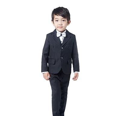 febc299bf06e6 (AIMI)子供服 男の子 フォーマル スーツ 4点セット キッズ スーツ 入園式 入学