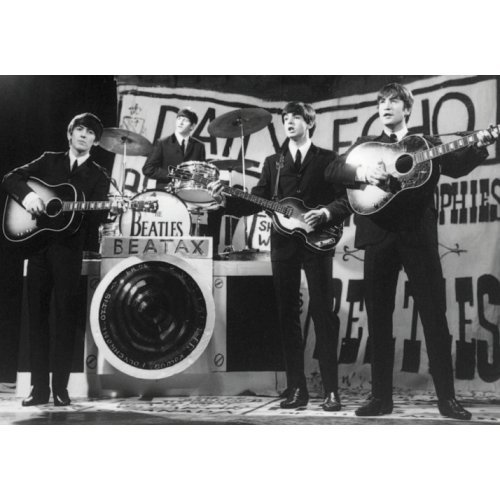 The Beatles The Beatles On stage B/&W photo 100/% Geuine Official Merchandise