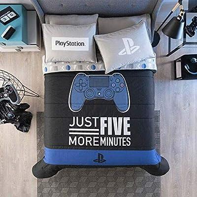 DreamPartyWorld Playstation Teens-Kids Boys Reversible Comforter Set Original Licensed 3PCS Queen Size: Home & Kitchen