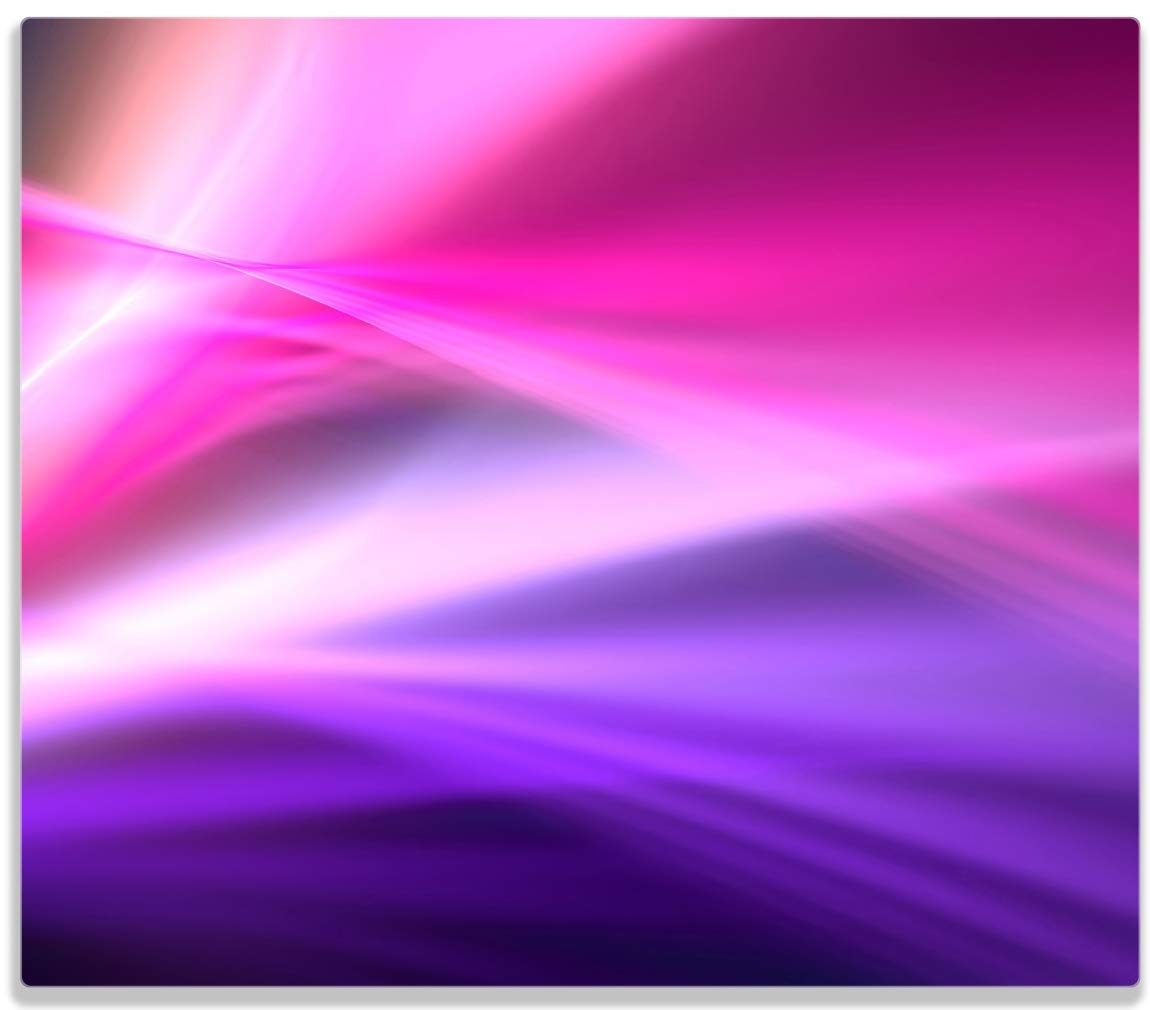 Wallario Herdabdeckplatte/Spritzschutz aus Glas, 1-teilig, 60x52cm, fü r Ceran- und Induktionsherde, Abstrakte Formen und Linien in pink lila posterdepot