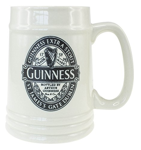 Guinness Ceramic Tankard With Guinness Classic Collection Black Label Design
