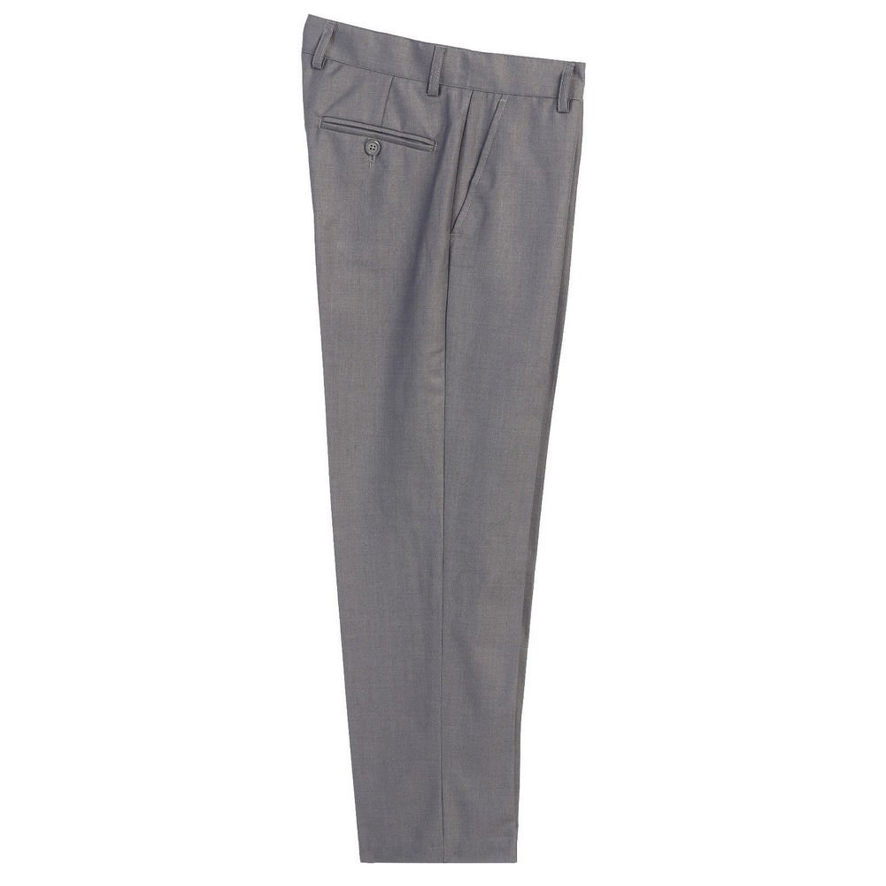 Little Boys Gray Flat Front Formal Special Occasion Dress Pants 2T