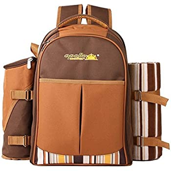 Amazon Com Apollo Walker Picnic Backpack For 4 With