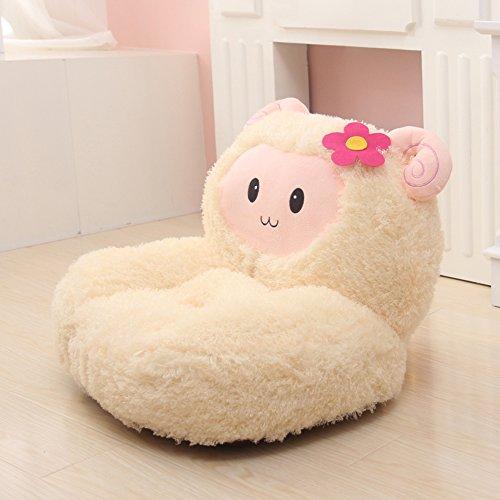 Sheep Toy Bag (MAXYOYO Super Cute Beige Sheep Stuffed Plush Toy Bean Bag Chair, Cute Rabbit Plush Soft Sofa for Toddler/Infant/Baby, Birthday Gifts Christmas Gift for Boys Girls)