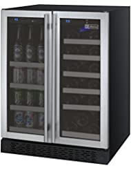 Allavino VSWB-2SSFN - 2 Door Wine Refrigerator/Beverage Center - SS Doors with Towel Bar Handles