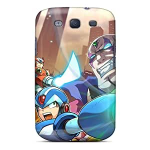 First-class Case Cover For Galaxy S3 Dual Protection Cover Mega Man Cartoon