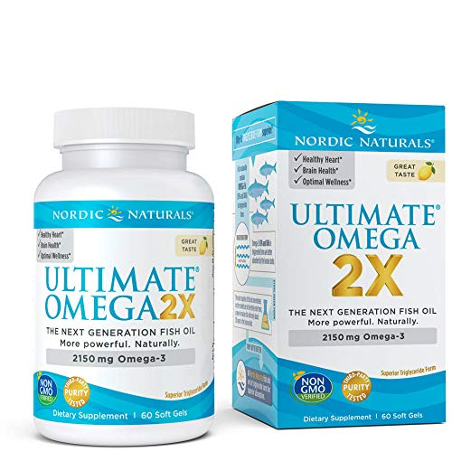 Nordic Naturals Ultimate Omega 2X - Extra Omega-3s Support Heart, Brain, and Immune Health, 60 Count (FFP)