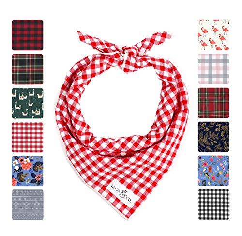 Lucy & Co. Dog Bandana - Designer Puppy Accessories for Boy and Girl Dogs - Limited Edition Prints Fit Small Medium Large Dogs - Includes 1 Bandana