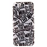 """BJS iPhone 5 Case, Soft TPU Rubber Gel Snap-on Back Case Cover For Apple iPhone 5 5s with Stylus Pen(Vans """"off the wall"""")"""
