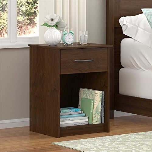 Ameriwood Home  Core Nightstand, Medium Brown (Bedside Nightstand)