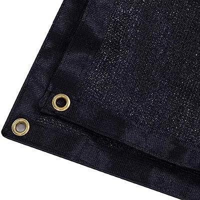 DIR 90% UV Black Shade Cloth Premium Mesh Shade Sunblock Shade Panel with Grommets 12ft x 6ft : Garden & Outdoor