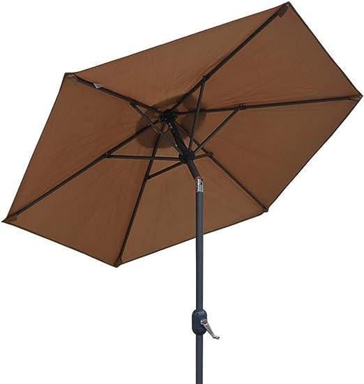 ZHUSAN Paraguas de Sol, Paraguas de Playa al Aire Libre del balcón del jardín los 2.5m (Color : Brown): Amazon.es: Hogar