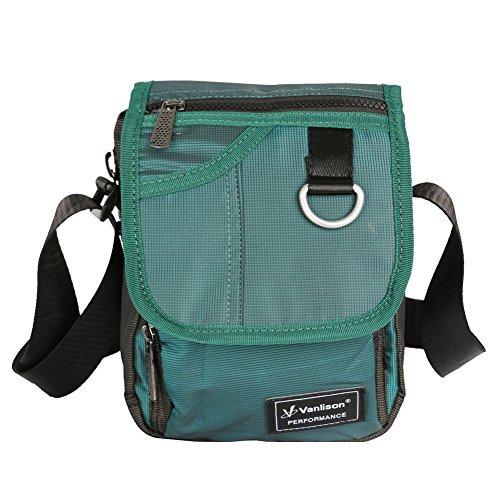 Vanlison Crossbody Small Shoulder Bag Messenger Sling Pack Satchel for iPad Mini Paperwhite Blue