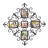 DecentHome Steel Decorative Multi Photo Picture Collage Frames Wall Hanging Holders 5 Images