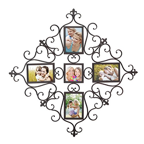 DecentHome Steel Decorative Multi Photo Picture Collage Frames Wall Hanging Holders 5 Images by DecentHome