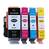 VRTOPINK Remanufactured Ink Cartridge Replacement for HP 902XL 902 XL (1 Black, 1 Cyan, 1 Magenta, 1 Yellow 4-Pack) for HP OfficeJet 6950 6951 6954 6958 6962 for HP Office Jet Pro 6978 6970 6974