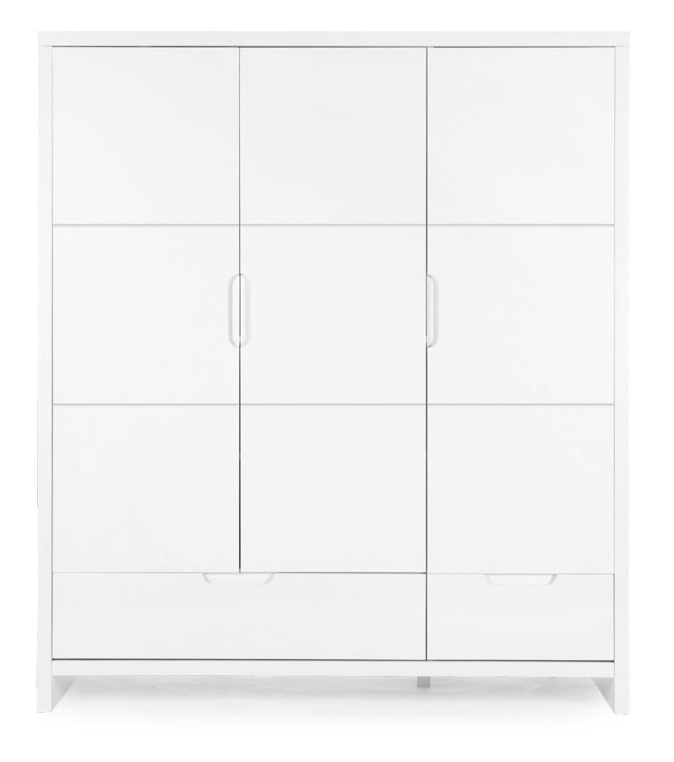 185x151x54 cm online kaufen kleiderschrank classic white schrank 3 tren 2 laden farbe wei 185x151x54 - Kleiderschrank Online Kaufen