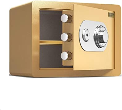 QFFL Caja fuerte, Caja Fuerte Mecánica Impermeable A Prueba de Fuego E Ignífuga for El Hogar Dinero Oficina Hotel Joyería Efectivo Pasaporte Documentos Objetos de Valor - 38x30x30cm (4 Colores Opcion: Amazon.es: