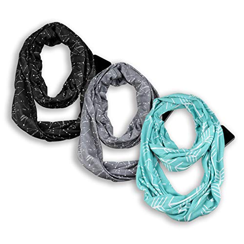 Infinity & Soft Scarf with Hidde...