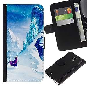 Cuento de hadas de Montaña Niños Niños- la tarjeta de Crédito Slots PU Funda de cuero Monedero caso cubierta de piel Para Samsung Galaxy S4 Mini i9190 (NOT S4)