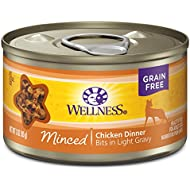 Wellness Complete Health Natural Grain Free Wet Canned Cat Food, Minced Chicken Dinner, 3-Ounce Can (Pack of 24)