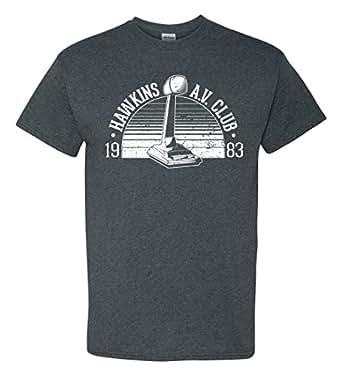 Strange Cargo Hawkins Middle School AV Club Parody T-Shirt (S, Charcoal)