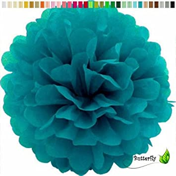 Creativery 1 Papier Pompon 20cm Dunkel Turkis 340d Pompom