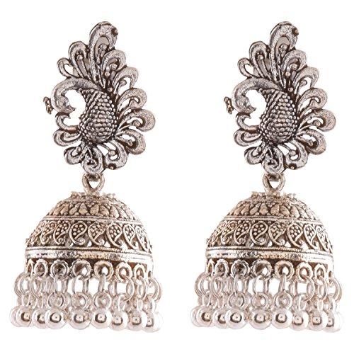 Ganapathy Gems Silver Plated Jhumki Earrings Women