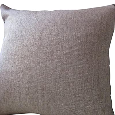 FairyTeller Linen Square Throw Flax Pillow Case Decorative Cushion Pillow Cover Quality First