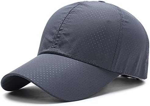 Cap Unisex Summer Solid Thin Mesh Portable Quick Dry Breathable Sun Hat Golf Tennis Running Hiking Camping