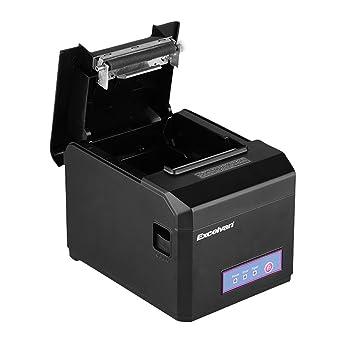 Impresora térmica de recibos 300 mm/s 80 mm Excelvan AUTO-CUT USB ...
