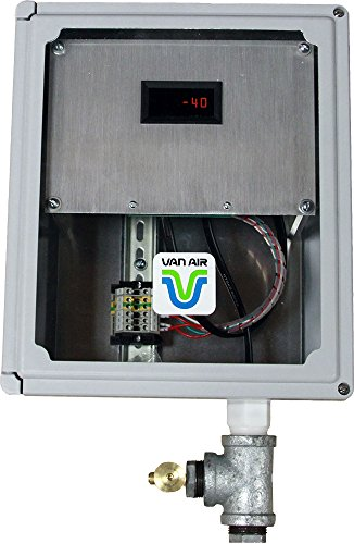 Van Air Systems 46-2529 Dew Point Meter for Compressed Air, -40 to +15 Degree F Sensing, Digital Display, Alarm and Recorder Output