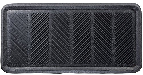 Milliard Large Rubber Boot Tray or Mudroom Doormat, 32x16; Rubber is Durable, Flexible for Easy Cleaning and Gives a Strong Grip to Stay in Place (Best Way To Sand A Car Before Painting)