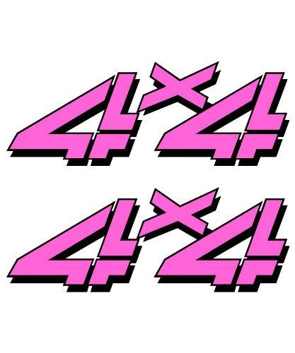 4x4-sticker-set-for-Chevy-GMC-Sierra-Silverado-Truck-playboy-pink-girl-decal
