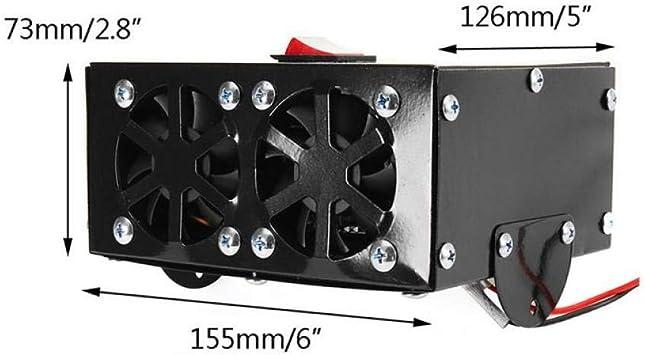 Calentador universal para ventilador de coche y camión, 12 V CC ...