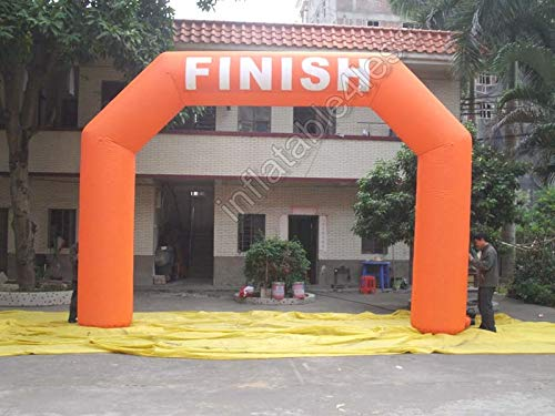 inflatable4less 20FT Hexagon Inflatable Arch Archway w/Fan Start Finish, No Customization, Made-to-Order (Orange)